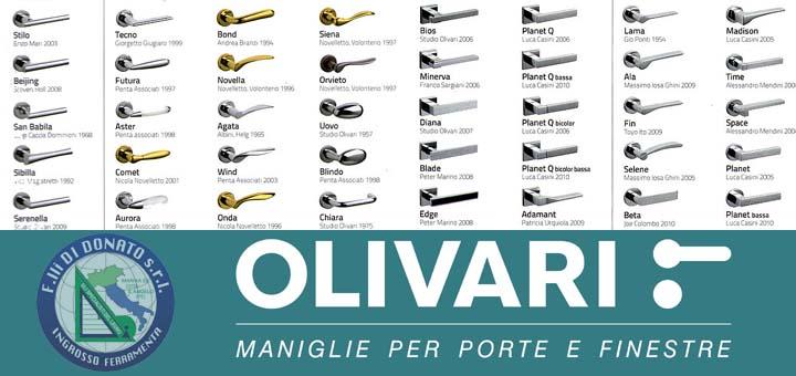 Di donato ferramenta olivari maniglie da 100 anni di donato srl - Maniglie per finestre olivari ...